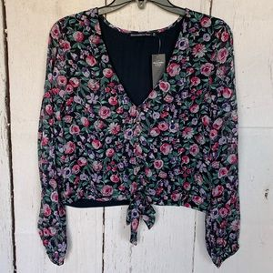 NWT Abercrombie & Fitch Floral Long Sleeve Top